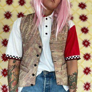 Vintage 90's Rossetti carpet button up vest
